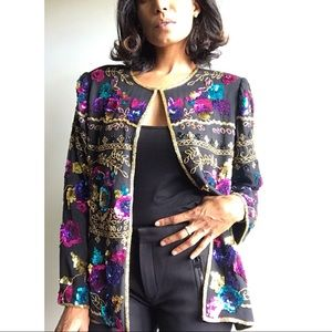 Vintage Sequin Party Jacket